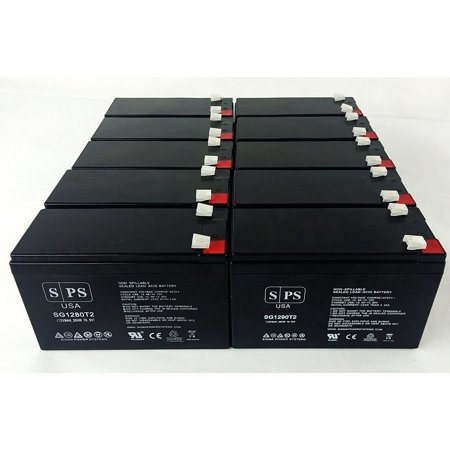 SPS Brand 12V 9Ah Replacement Battery for Digital Security BD 712 (Terminal T2) (12 Pack)