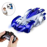 Amerteer Remote Control Car,Electric Toy RC Cars on the Wall, Dual Mode 360Rotating Stunt Rechargeable High Speed Race Vehicle with LED Lights, Xmas RC Cars for Boys Girls 3-16 Year Old