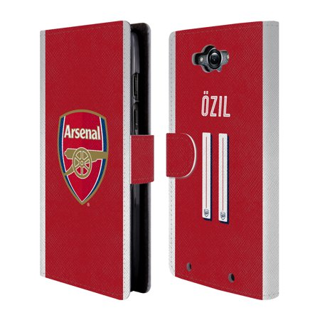 OFFICIAL ARSENAL FC 2017/18 PLAYERS HOME KIT 1 LEATHER BOOK WALLET CASE COVER FOR MOTOROLA PHONES 2