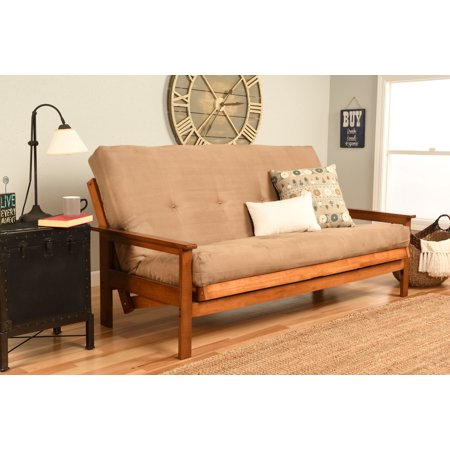Image of Albany Futon in Barbados Finish, Multiple Suede Colors