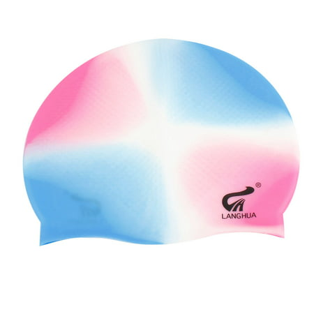 Unique Bargains Best Waterproof Elastic Silicone Swimming Cap Hat For Adults