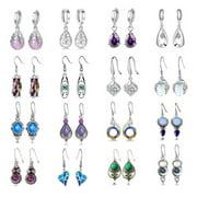 Famure Women Teardrop Crystal Earring Set Dangle Earrings Christmas Gift