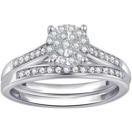 Composite Set (1/5 Carat T.W. Diamond Sterling Silver Composite Bridal Set)
