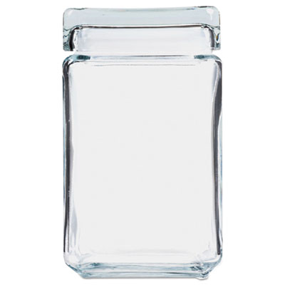 Stackable Glass Storage Jars, 1 1 2 qt, Glass, Sold as 1 Each by