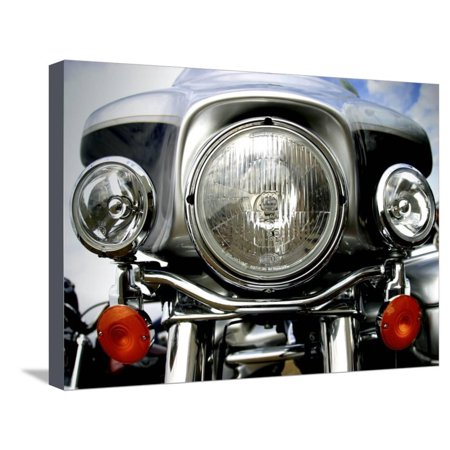 Harley Davidson Motorcycle Stretched Canvas Print Wall Art - Harley Motorcycle Art