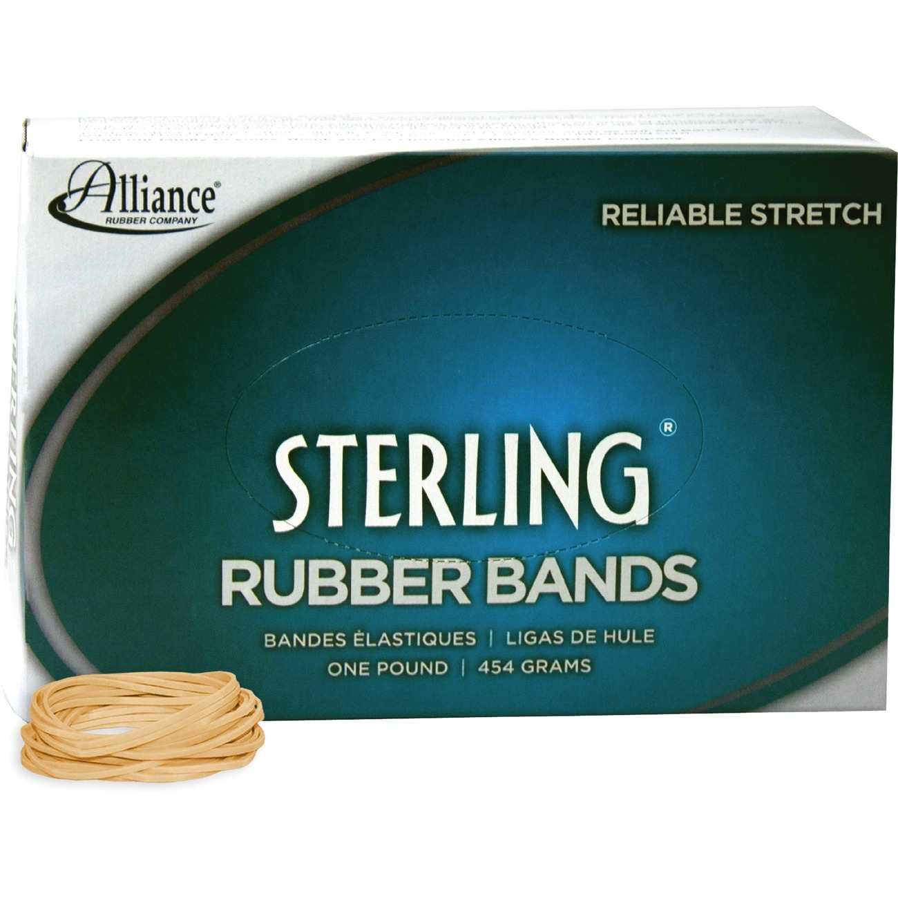 Alliance Rubber, ALL24145, Sterling Rubber Band, Natural Crepe