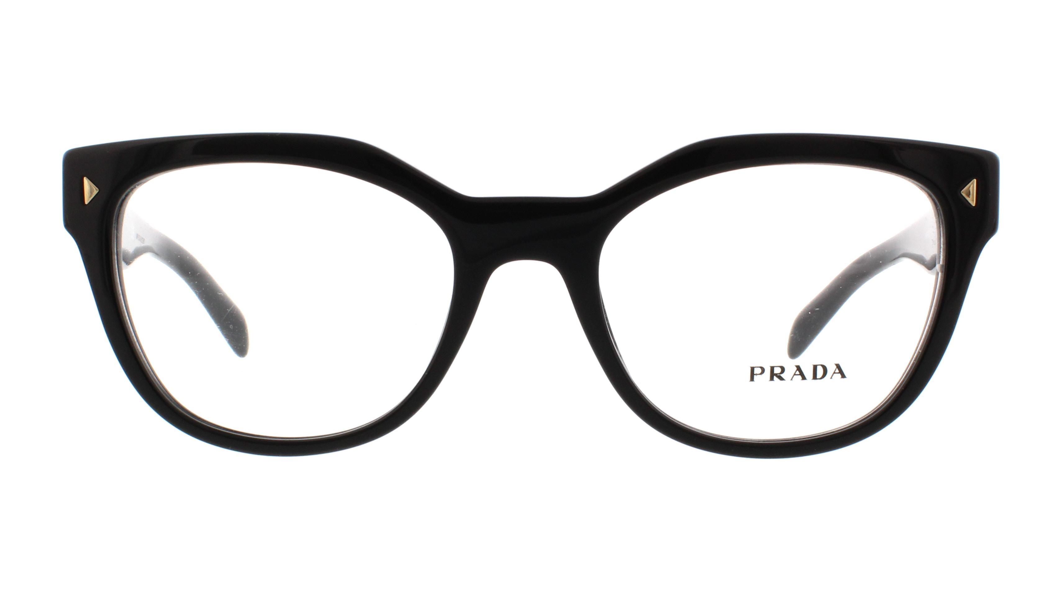 7cfeb7a9210 PRADA Eyeglasses PR 21SV 1AB1O1 Black 51MM - Walmart.com