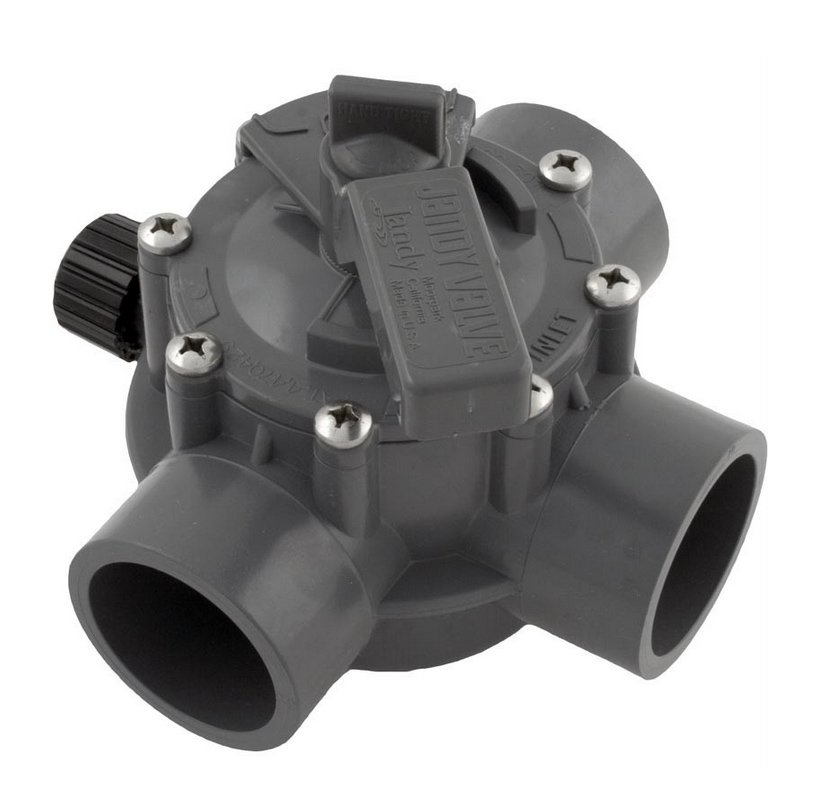 "Jandy 1154 Swimming Pool & Spa 3-Way Port Valve 1 1/2""-2"" Positive Seal CPVC"