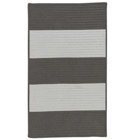 Colonial Mills Rug NW16R084X108S Newport Textured Stripe Rectangle Area Braided Rug  Grey - 7 x 9 ft. - image 1 of 1