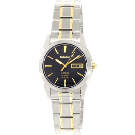 (Seiko Men's SGG735 Silver Titanium Quartz Fashion Watch)
