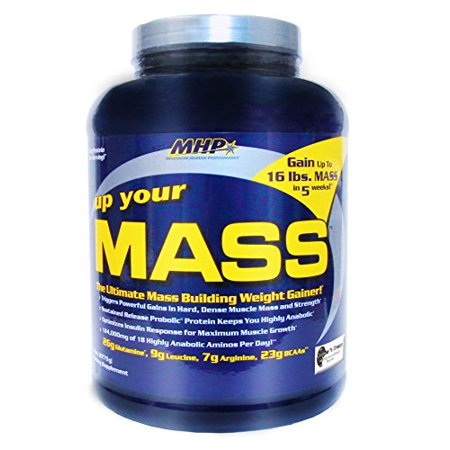 MHP, Up Your Mass Weightgainer, Cookies, 5 Pound