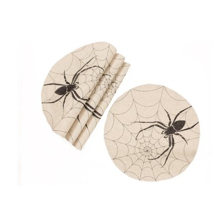 The Holiday Aisle Obi Halloween Creepy Spiders 16'' Placemat (Set of 4) (Halloween Placemats Target)