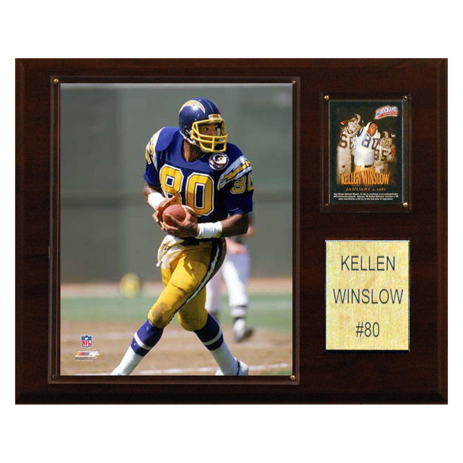 C&I Collectables NFL 12x15 Kellen Winslow San Diego Chargers Player Plaque
