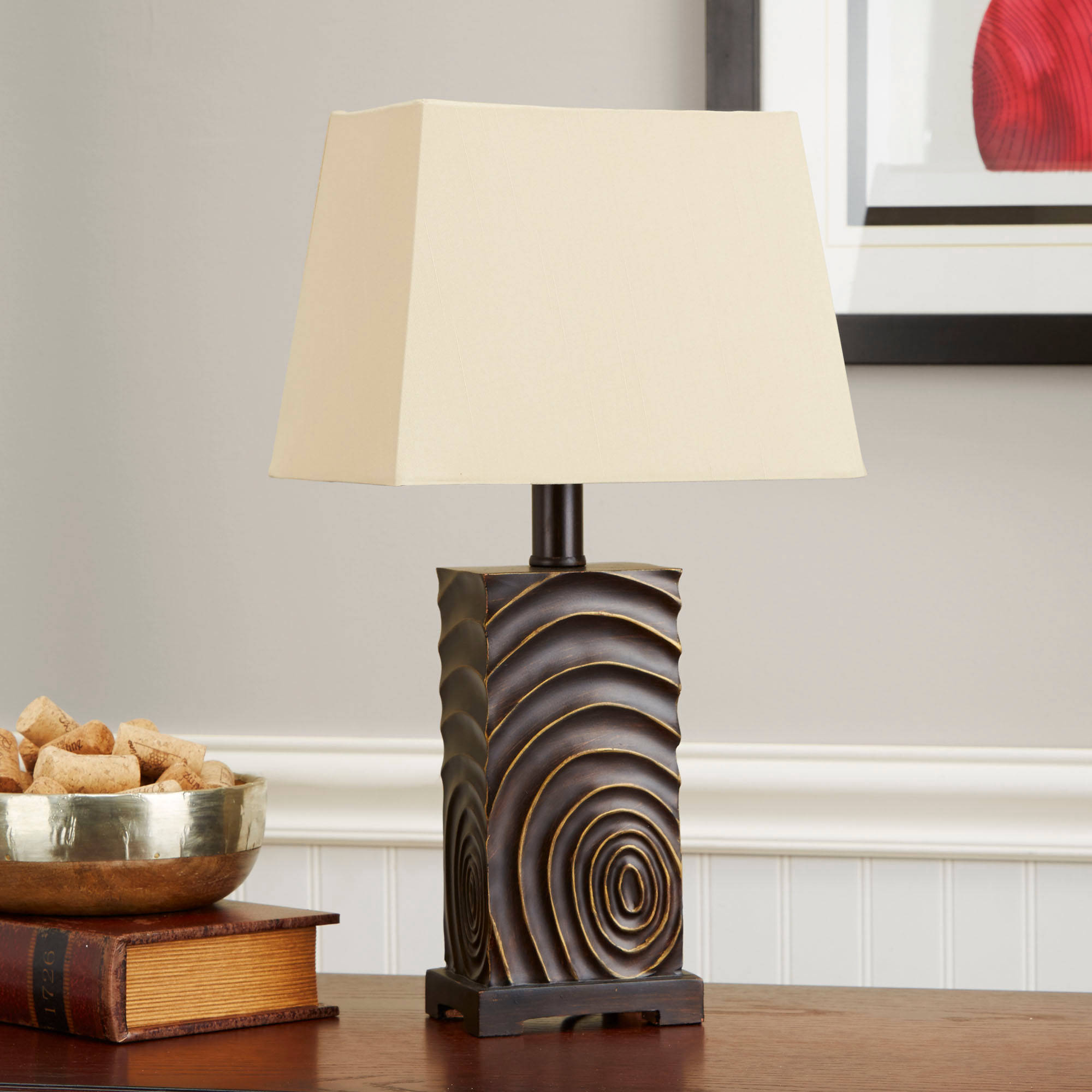 Better Homes and Gardens Thumbprint Lamp, Oil Rubbed Bronze