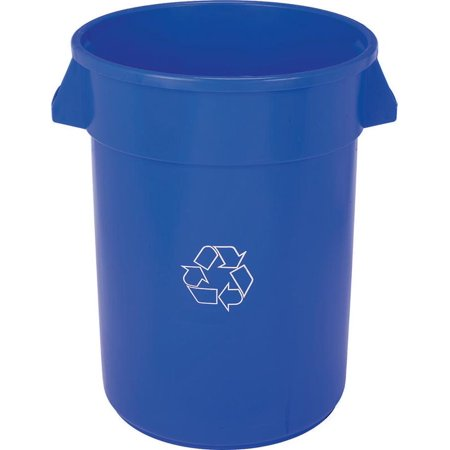 Huskee 3200-1 Round Refuse Trash Receptacle, 32 gal, 22 in Dia x 27-3/8 in L, Plastic