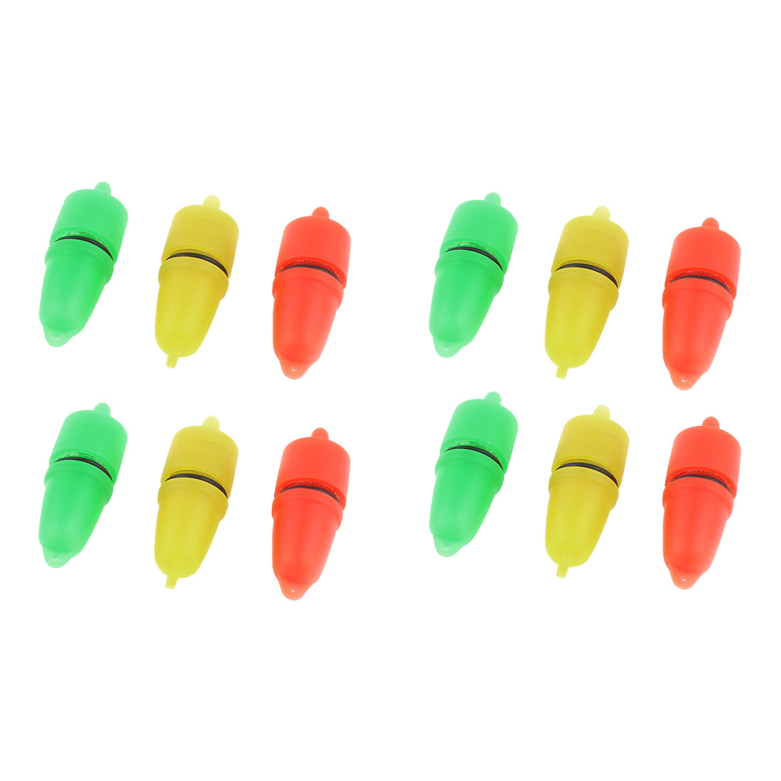 12 Pcs Battery Powered LED Luminous Fishing Floaters Bobbers 15 x 42mm