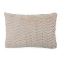 "MoDRN Neo Luxury Chevron Faux Fur Decorative Throw Pillow, 14x20"""