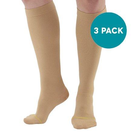 Ames Walker AW Style 222 Anti-Embolism 18 mmHg CT Knee Highs (3-Pack) Walker Anti Shock Single