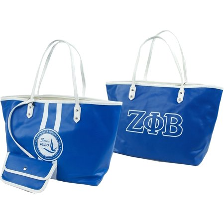 Zeta Phi Beta Divine 9 Ladies Tote Bag [Royal Blue - 19.75