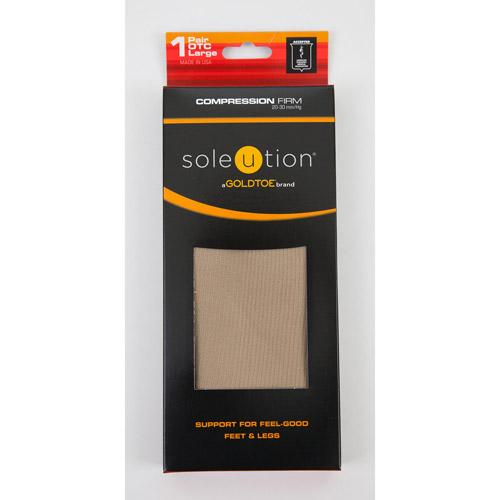 Soleution by GOLDTOE Compression Firm Unisex Basic Rib OTC, 1-pair Socks