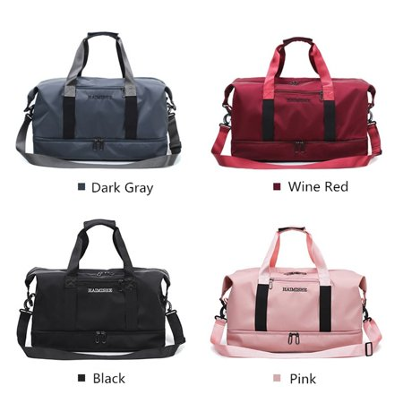 Gym Bag Sports Duffle With Shoes Compartment Waterproof Large Travel Duffel Bags Weekender Overnight