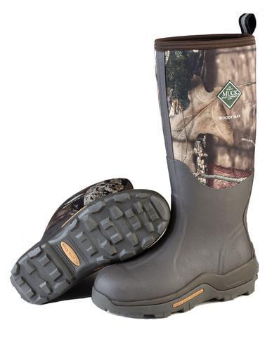 Muck Boot Woody Max Bark Mossy Oak Thermal Foam Fleece Liner Comfort Topline M9