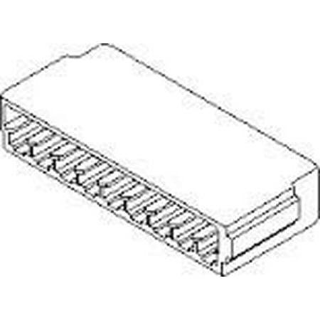 MOLEX 09-01-1091 3.96mm Pitch KK Single Sided Edge Crimp Housing, 9 Circuits (5 pack) - (Single Crimp)
