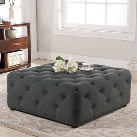 Coffee Table Ottoman.Atlin Designs Square Tufted Coffee Table Ottoman In Gray
