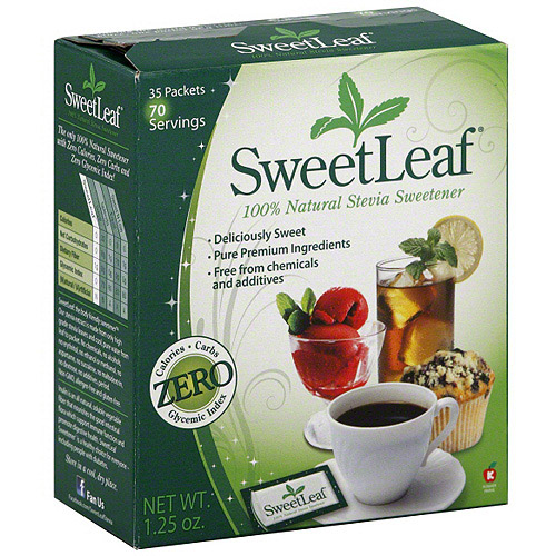Sweetleaf 100% Natural Stevia Sweetener, 35ct (Pack of 12)