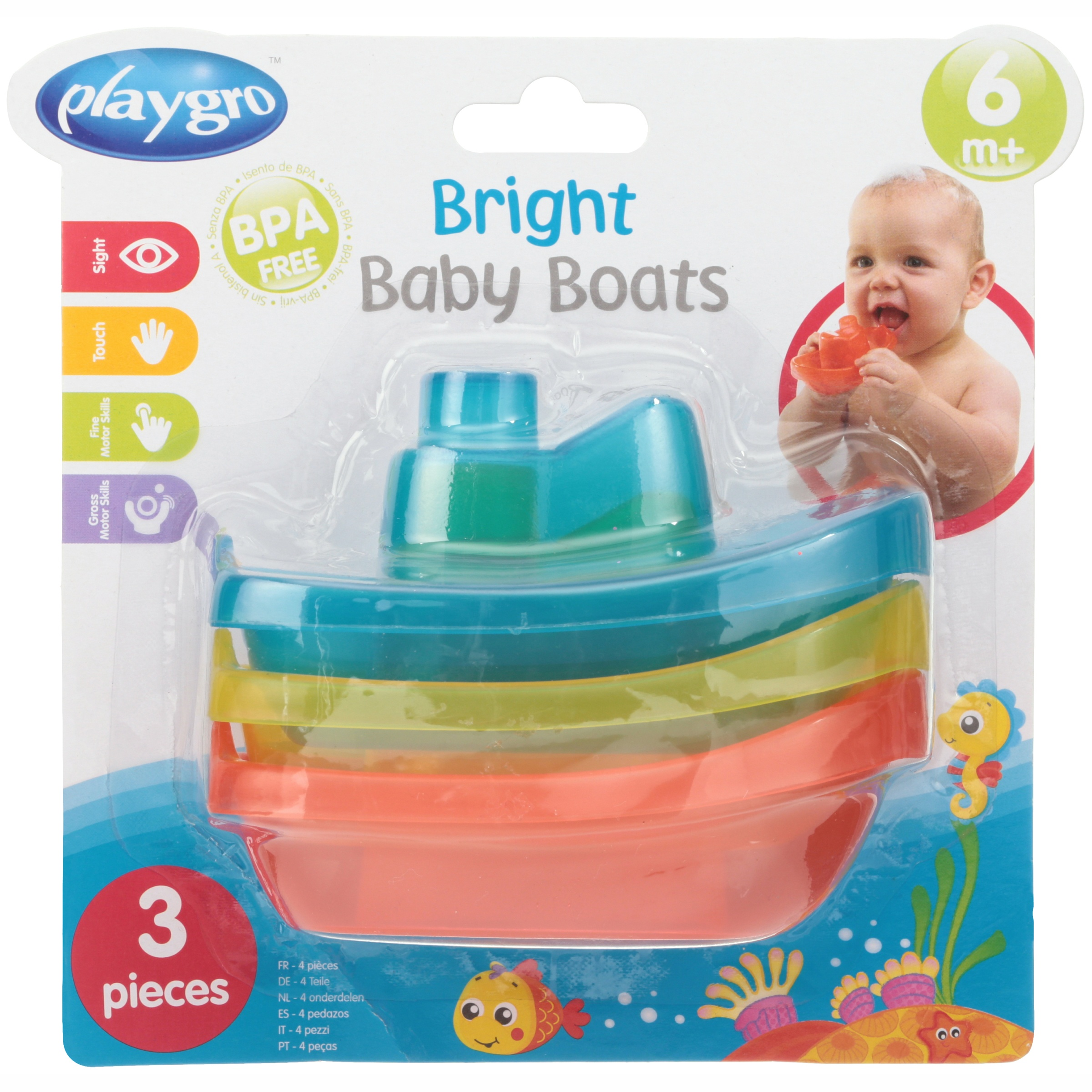 Great Start for a World of Learning Playgro is Encouraging Imagination with STEM//STEM for a Bright Future Playgro Bright Baby Boats for Baby Infant Toddler Children 0183454 GN
