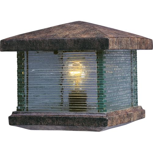 Maxim 48736CL Single Light Up Lighting Deck Lantern from the Triumph VX Collecti