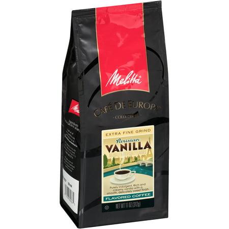 Melitta Cafe De Europa Extra Fine Grind Parisian Vanilla Flavored Coffee, 11.0 OZ