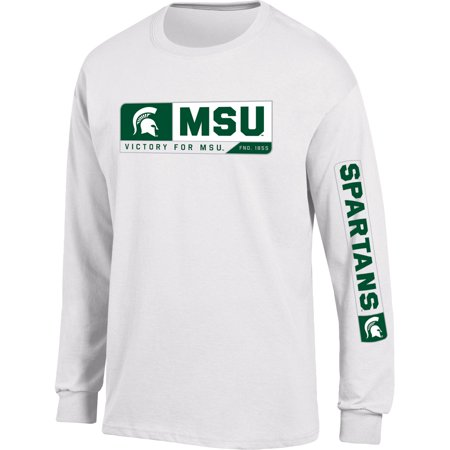 Michigan State Halloween Party (Men's Russell White Michigan State Spartans Team Long Sleeve)