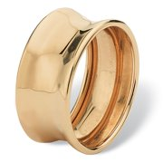 Concave Barrel Ring in 10k Yellow Gold