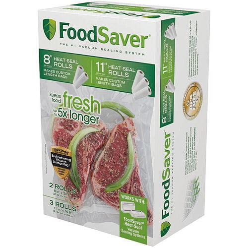 "FoodSaver 8"" & 11"" Heat-Seal Rolls, 5 pks"