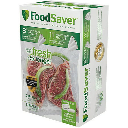 Foodsaver 8     11   Heat Seal Rolls  5 Pks