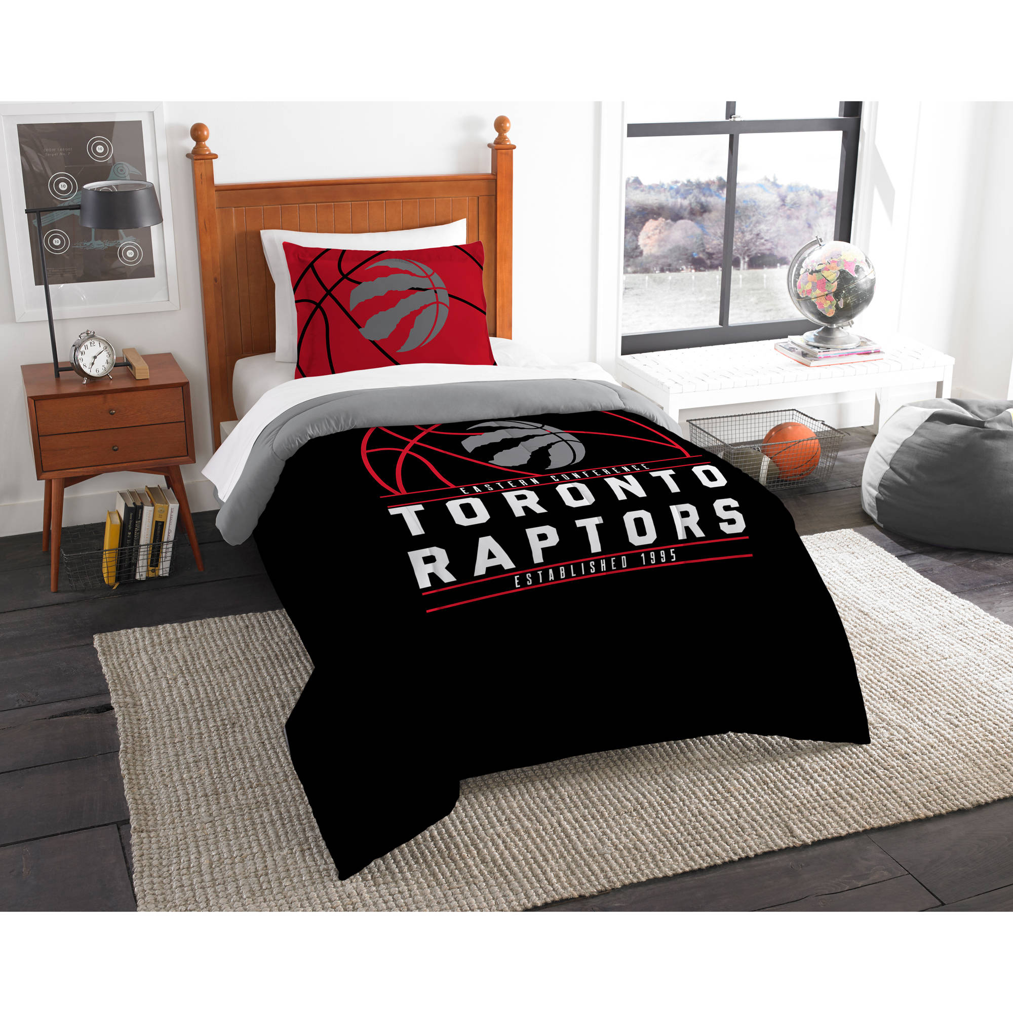 "NBA Toronto Raptors ""Reverse Slam"" Bedding Comforter Set"