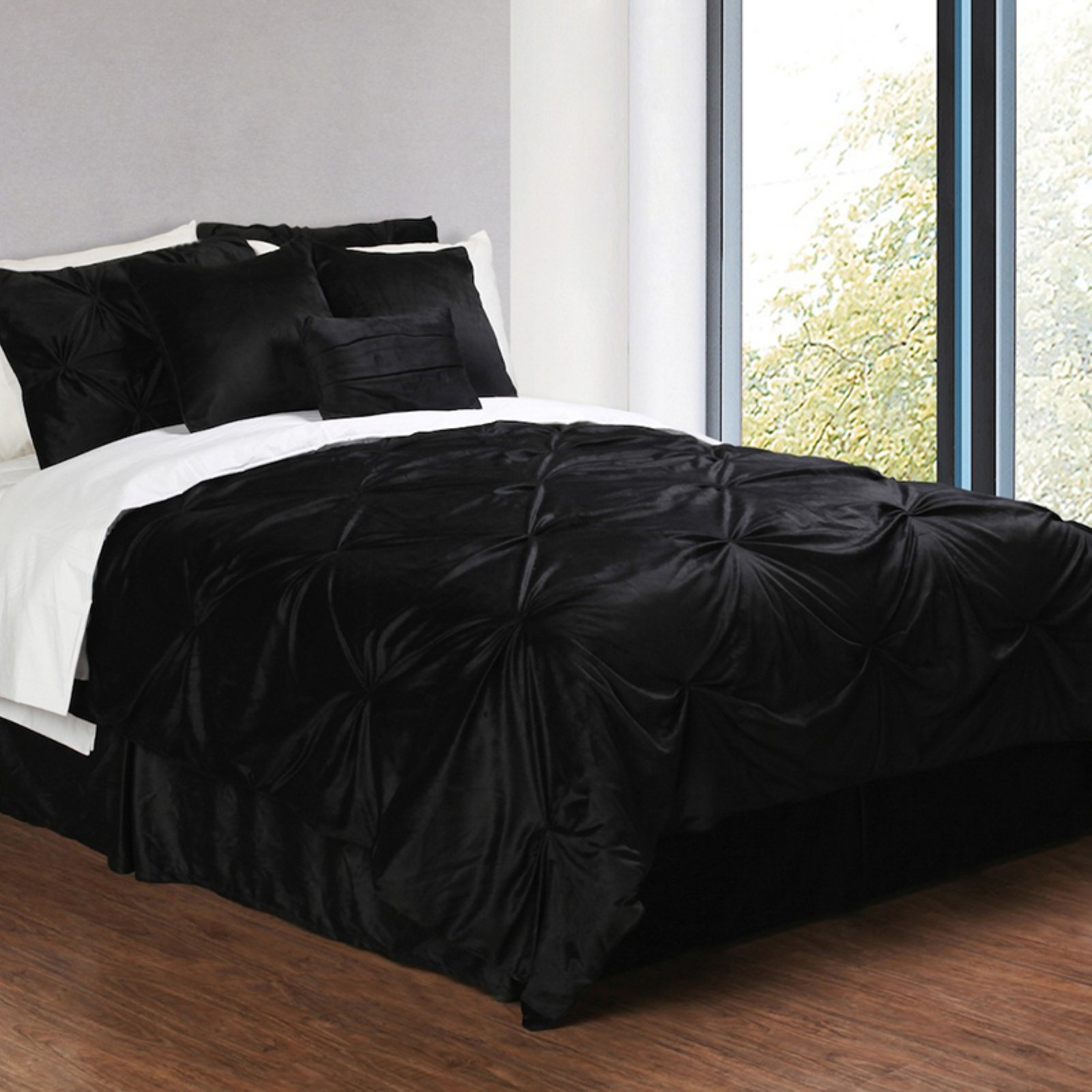 Pintuck Plush 6-Piece Complete Comforter Set