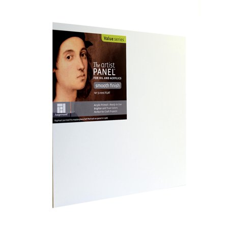 The Artist Panel Primed Smooth Flat Profile 8 in. x 8 in., 1/8 in. (pack of 6) ()