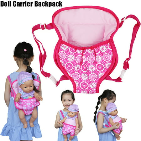 Baby Doll Carrier Backpack Doll Accessories Front/Back Carrier Doll Sleeping Bag With Straps- Fits 15 To 18 Inch Dolls Women Red Baby Doll Shirt