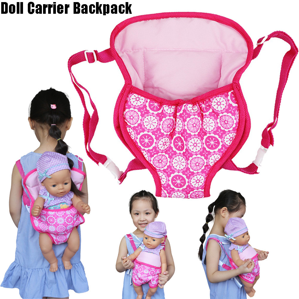 Baby Doll Carrier Backpack Doll Accessories Front/Back Carrier Doll Sleeping Bag With Straps- Fits 15 To 18 Inch Dolls