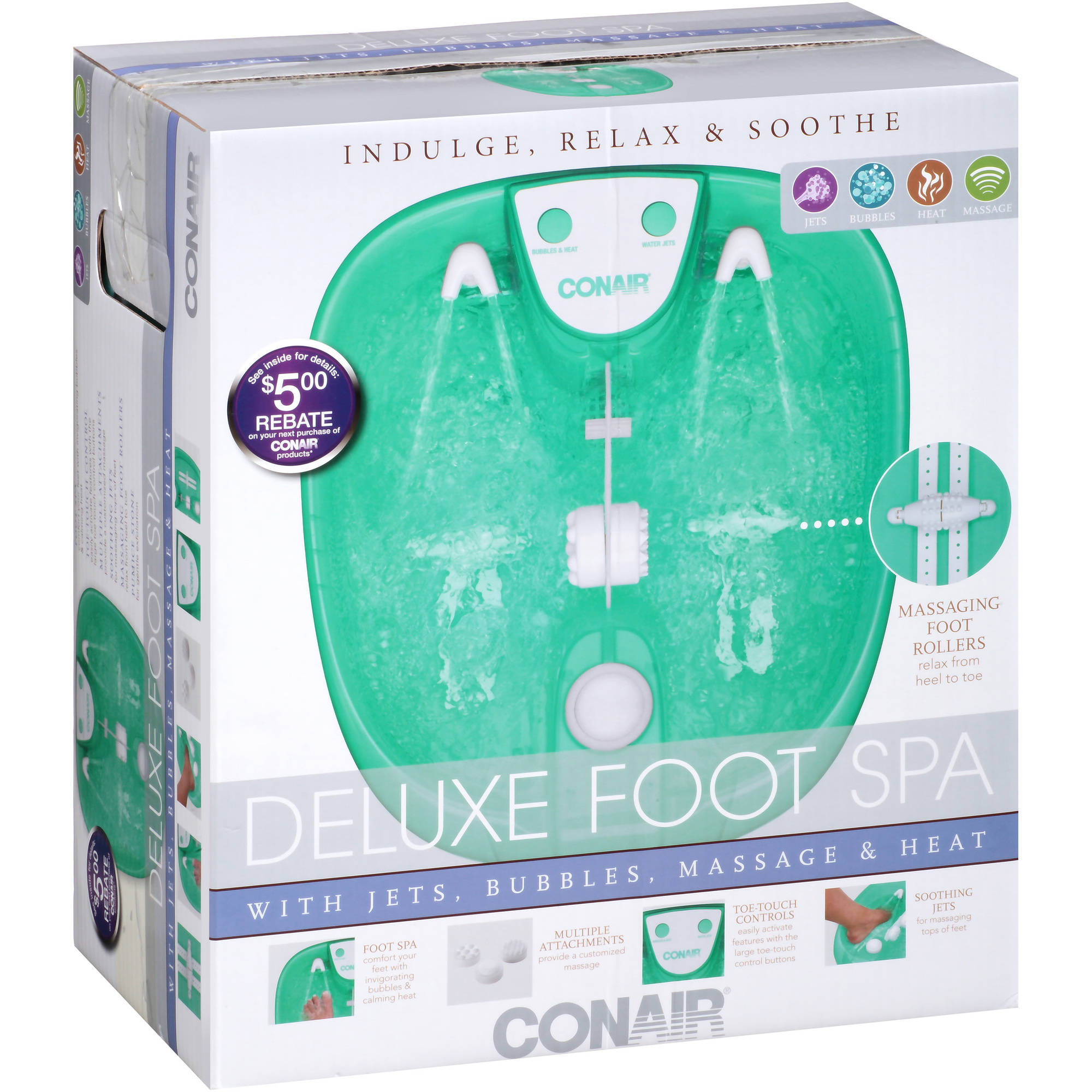 Conair Deluxe Foot Spa, Green - Walmart.com