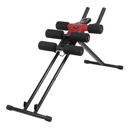 Zimtown Ab Crunch Machine,5 Minute Shaper, Adjustable Abdominal / Tummy  Exercise Equipment, Ab Core Cruncher / Glider Trainer, with LCD Display,  for