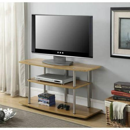 Convenience Concepts Designs2Go No Tools 3 Tier Wide TV Stand, Light Oak