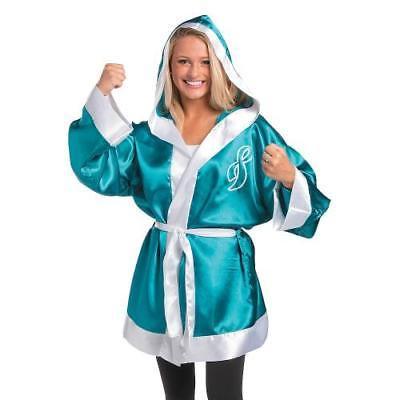 Teal Ribbon Boxing Robe By Fun Express - Boxing Robe Cheap