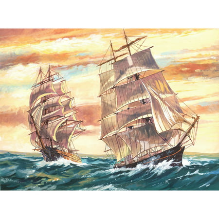 Reeves Large Acrylic Painting By Number Kit 11 5 x 15 5 Sailing Ships