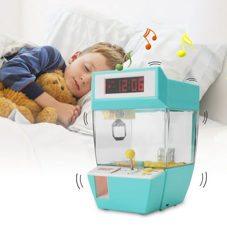 VBESTLIFE Mini 2 in 1 Electronic Crane Machine Toy LCD Display Alarm Clock Kids Children Gifts,Crane Toy,Electronic Crane Machine Toy