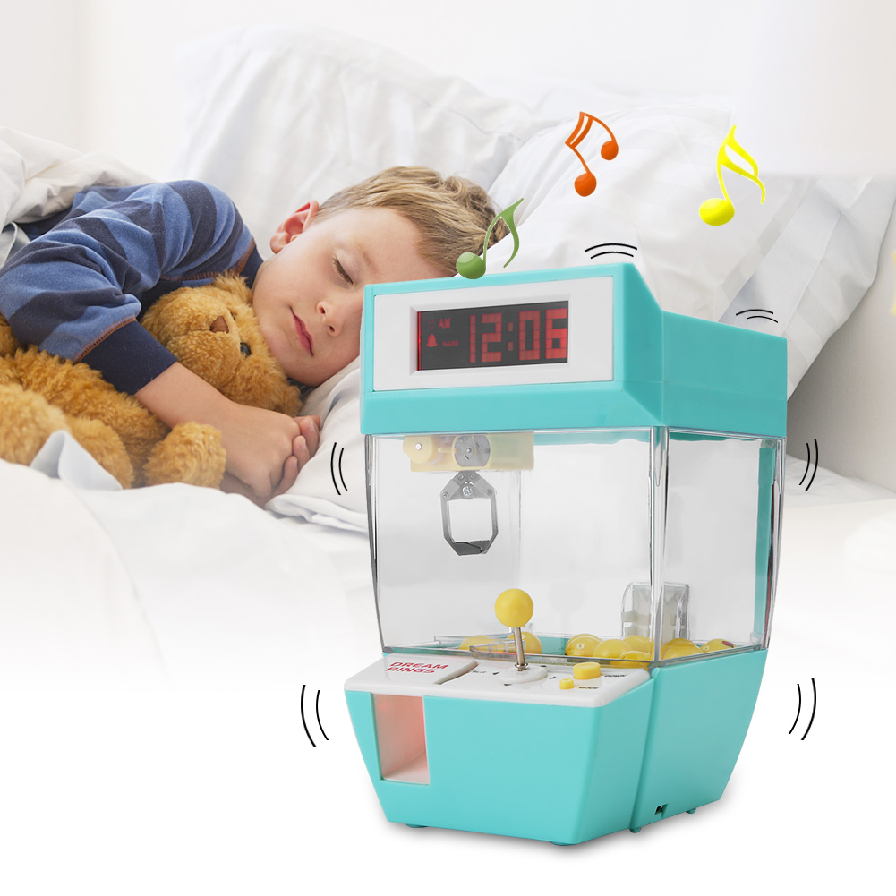 Yosoo Mini 2 in 1 Electronic Crane Machine Toy LCD Display Alarm Clock Kids Children Gifts, Electronic Crane Machine Toy,Electronic Crane Toy