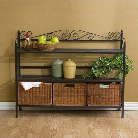Low Celtic Kitchen Storage Unit with Baskets