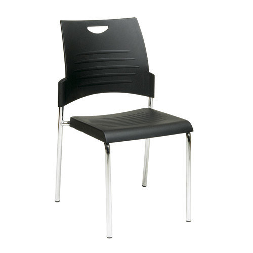 OSP Designs Armless Straight Leg Stacking Chair (Set of 2)